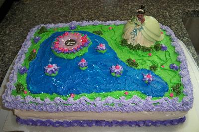 Princess and the Frog Birthday Cake